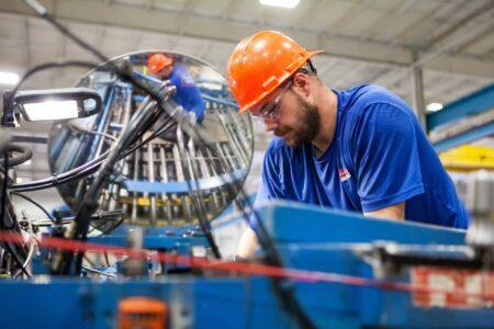 Arbeiter in der Produktion